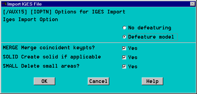 Importing IGES Geometry into ANSYS from Mechanical Desktop