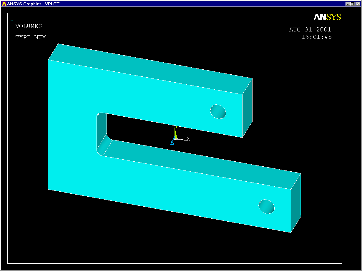 Importing IGES Geometry into ANSYS from Mechanical Desktop — TTU CAE